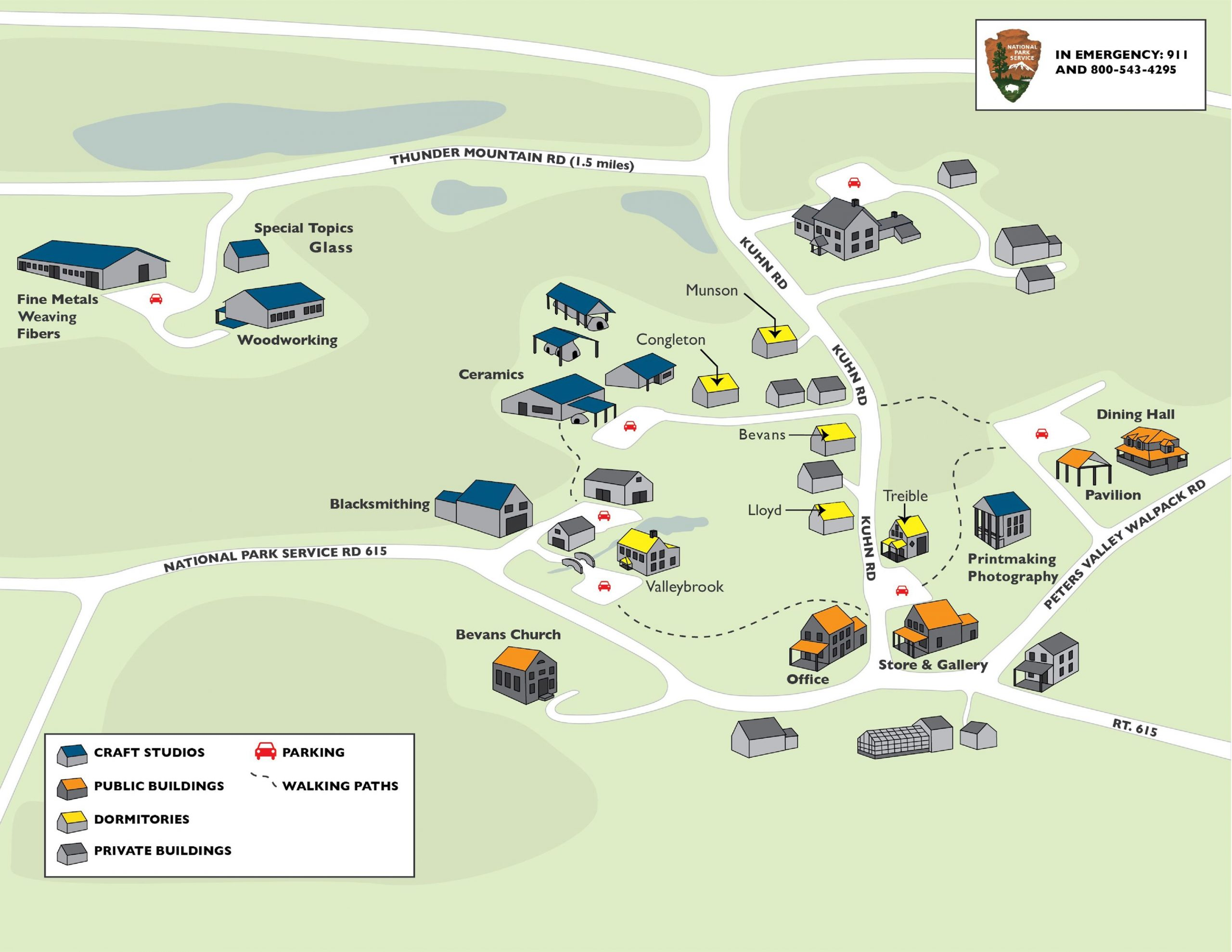 Peters Valley campus map