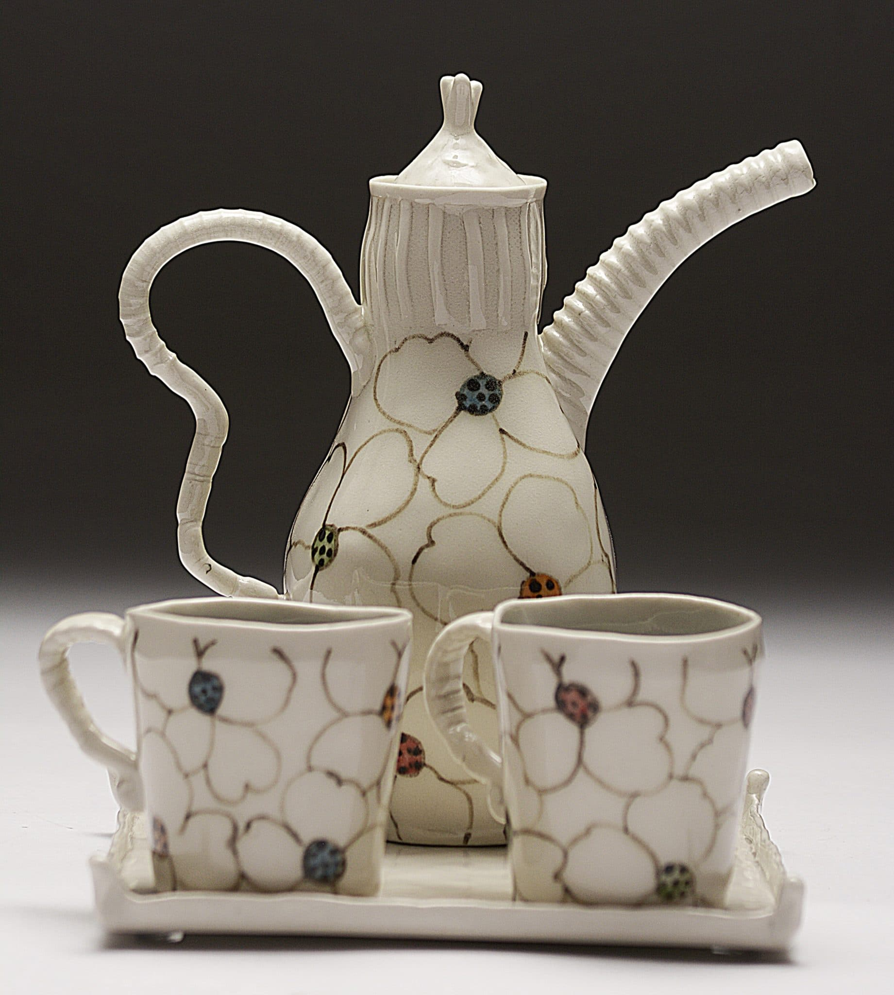 Jerry Bennett - Whitefloral Tea Set