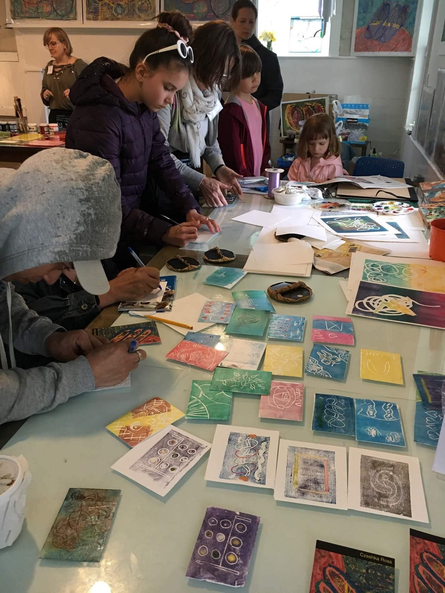 Peters valley kids at workshop