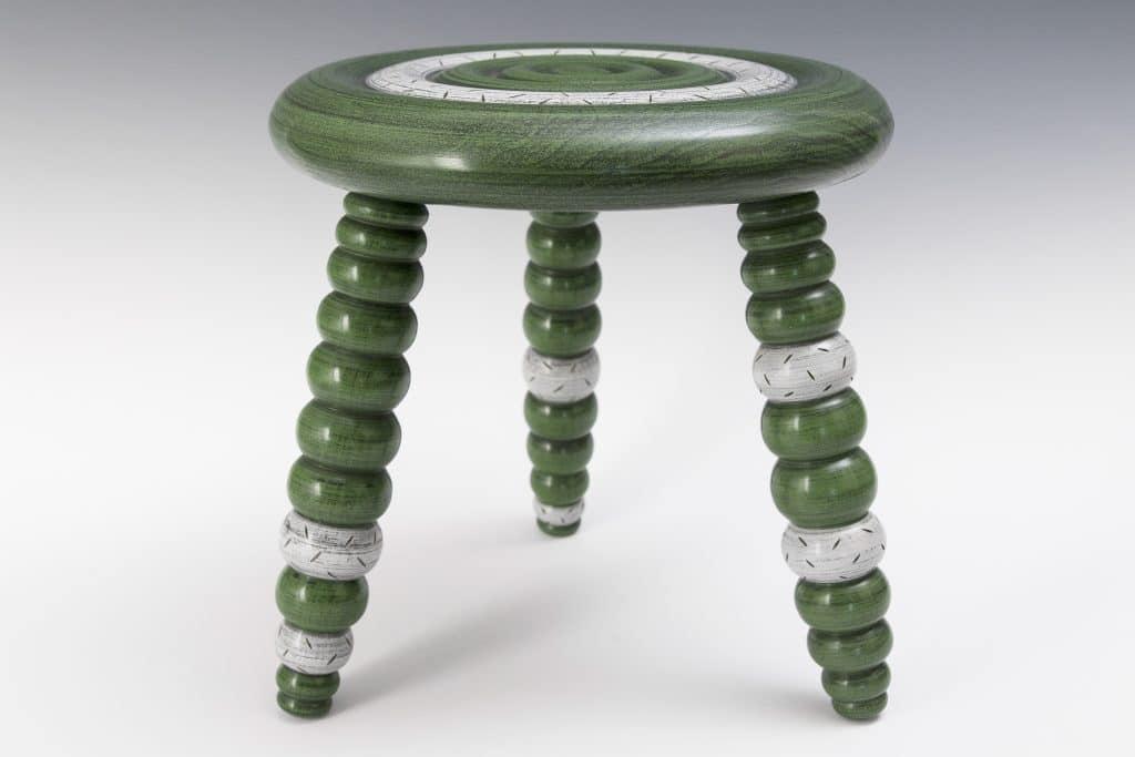 Kimberly Winkle - green springy stool