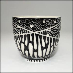 ceramic cup with design
