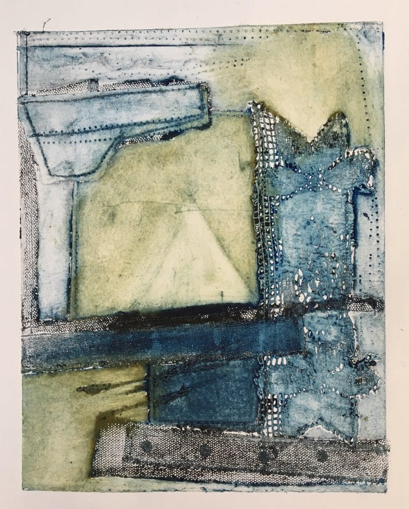 clare murray - Murray Adams-Collagraph Abstract copy