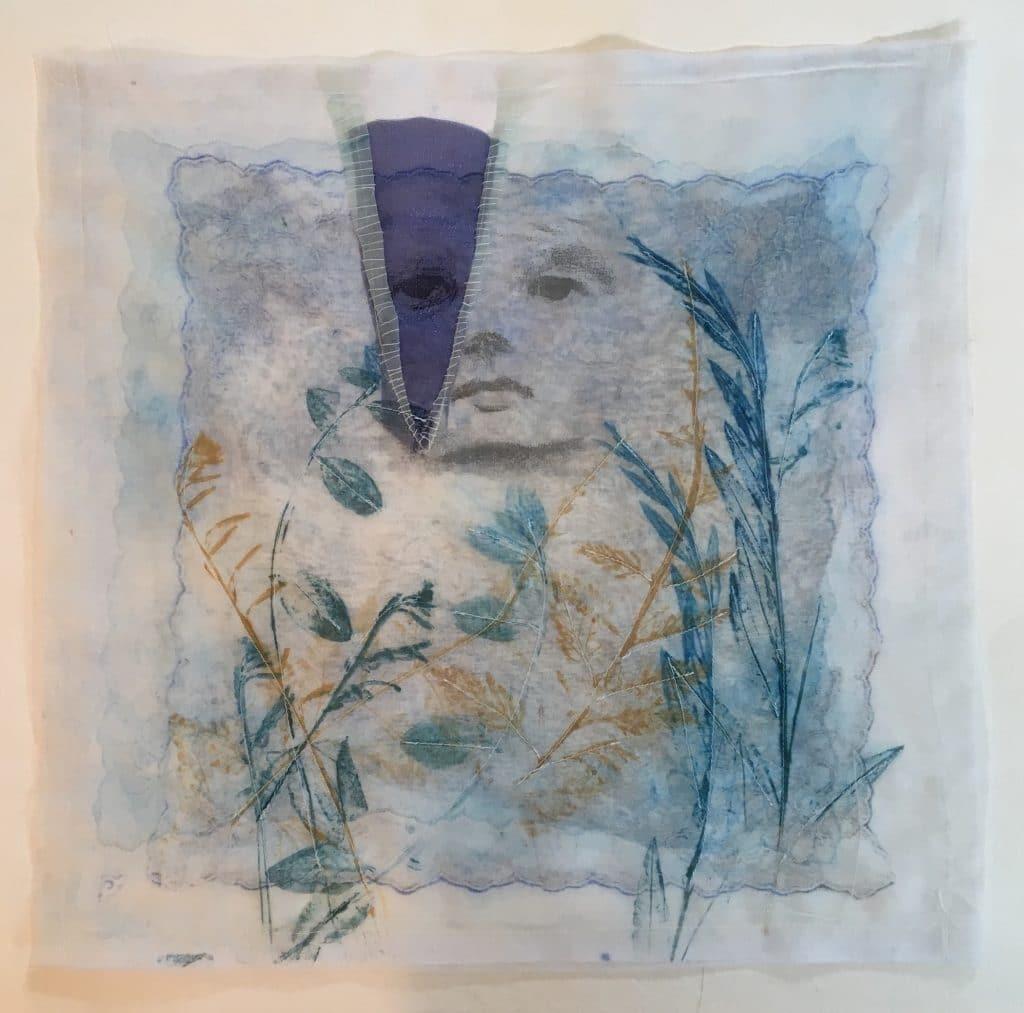 clare murray - Murray Adams-Mixed Media Collagraph Print on Organza